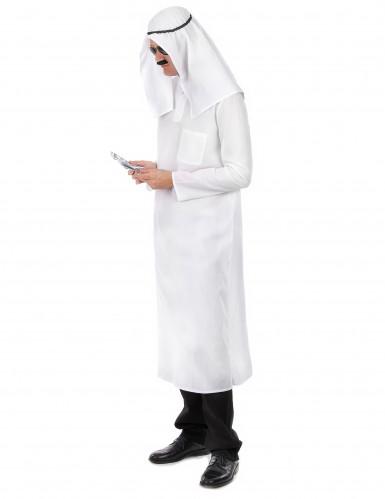 Déguisement cheikh arabe blanc homme-1