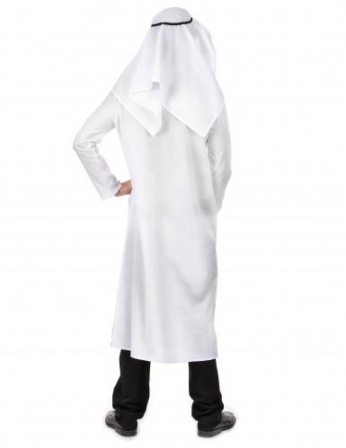 Déguisement cheikh arabe blanc homme-2