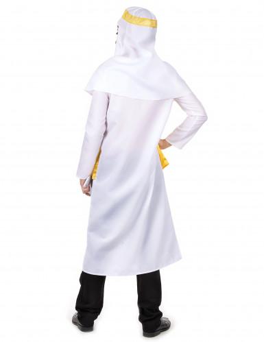 Déguisement cheikh arabe blanc et jaune homme-2