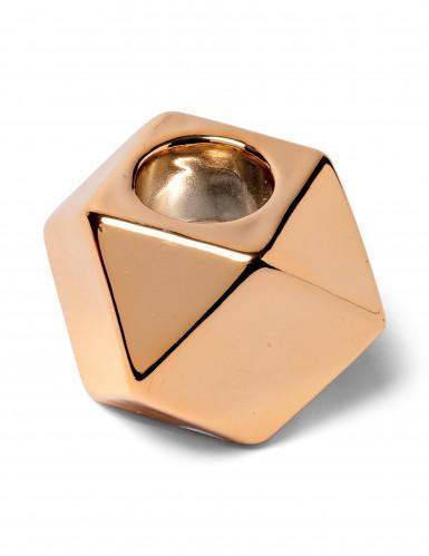 Bougeoir octogonal cuivre 5 cm