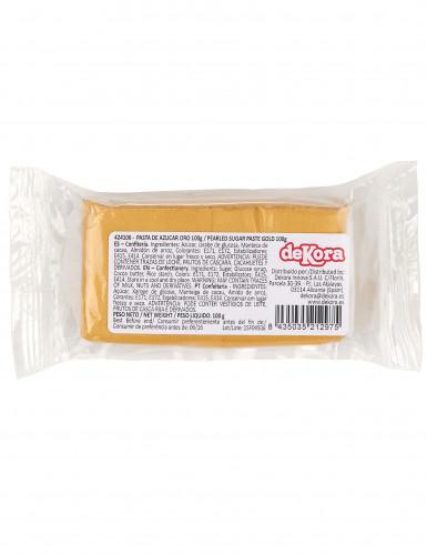 Pâte à sucre or