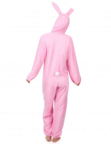 Déguisement lapin rose femme-2