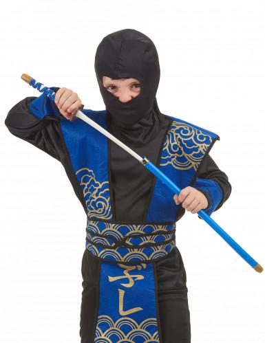 Sabre de Ninja en plastique bleu -1