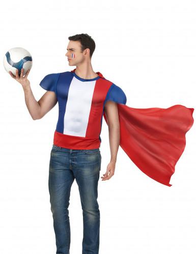 Haut de héros avec cape adulte - France-1