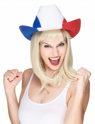 Chapeau cowboy supporter France adulte-1
