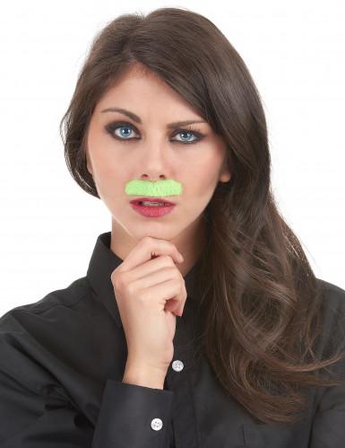 6 Moustaches adhésives fluos-1