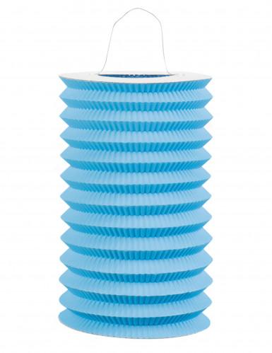 Lampion en papier bleu