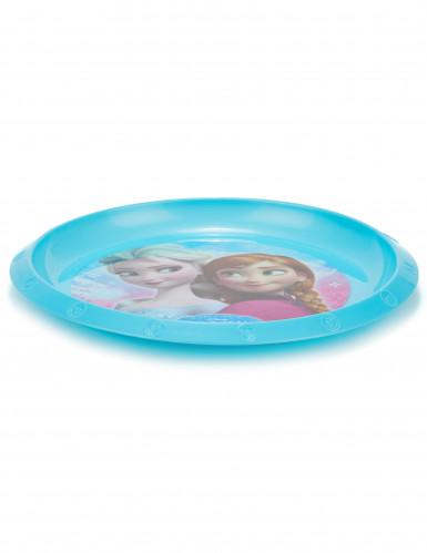 Assiette plastique réutilisable La Reine des Neiges™ 21 cm-1