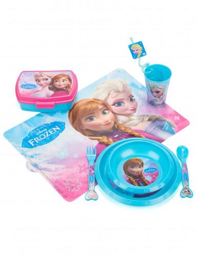 Assiette plastique réutilisable La Reine des Neiges™ 21 cm-2