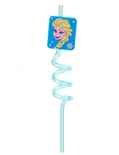 Paille en plastique rigide réutilisable La Reine des Neiges™