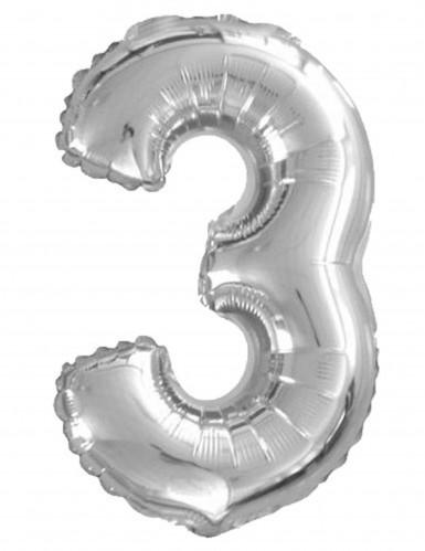 Ballon aluminium chiffre 3 35 cm