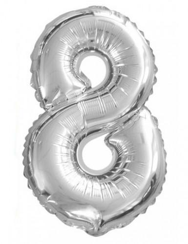 Ballon aluminium chiffre 8 35cm