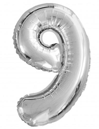 Ballon aluminium chiffre 9 35cm