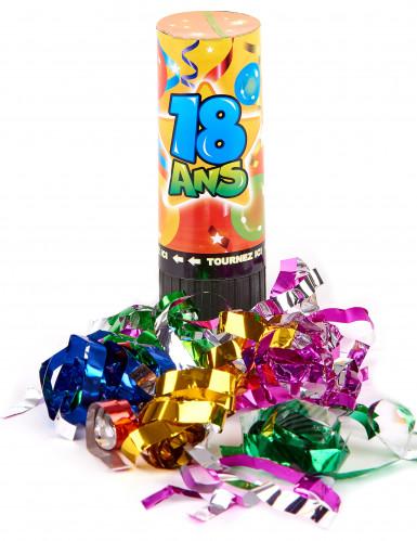 4 Canons à confettis et serpentins anniversaire 18 ans-1