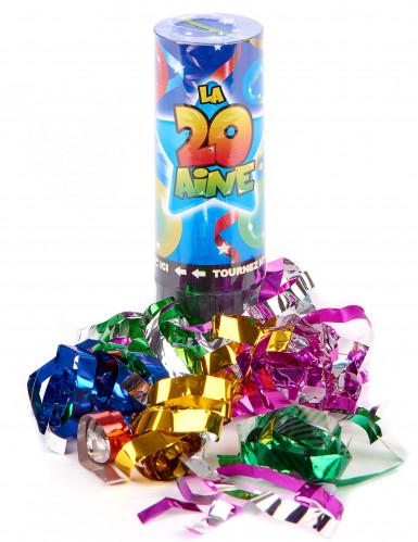 4 Canons à confettis anniversaire 20 ans-1