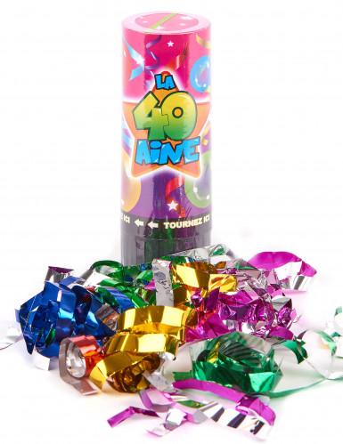 4 Canons à confettis anniversaire 40 ans-1