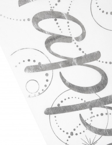 Chemin de table Happy blanc-1