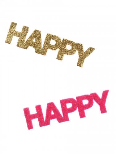 Confettis Happy fuschia et dorés-1