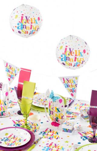 2 Lanternes en papier Anniversaire festif-1