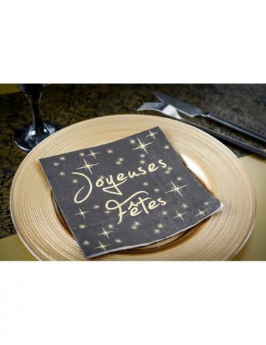 20 Serviettes en papier Joyeuses fêtes 33 cm-1