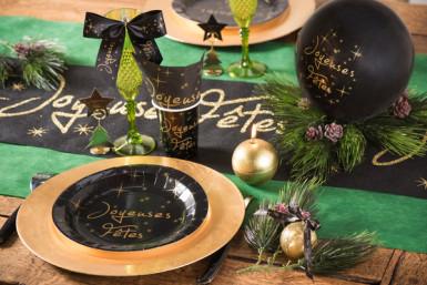 10 Assiettes en carton Joyeuses fêtes 22.5 cm-1
