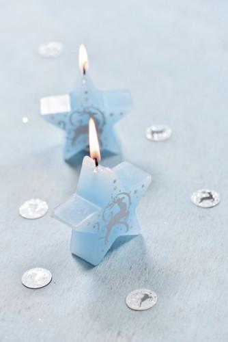 Confettis Renne bleu et argenté-1