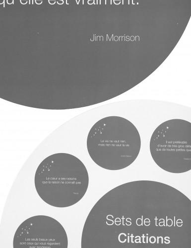 10 Sets de table gris avec citations-1