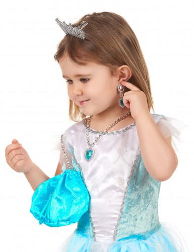 Kit accessoire princesse bleue fille-2