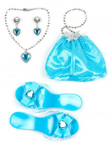 Kit accessoire princesse bleue fille