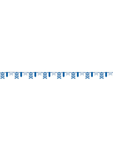 Guirlande chevrons bleus-1