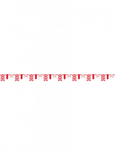 Guirlande chevrons rouges-1