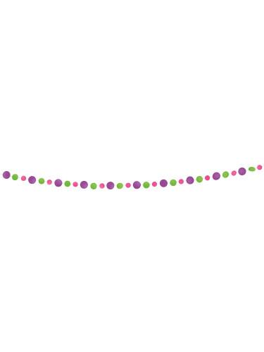 Guirlande ronds violets roses et verts-1