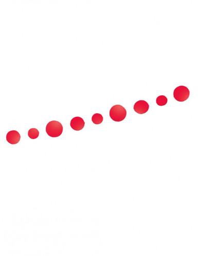 Guirlande ronds rouges Saint Valentin