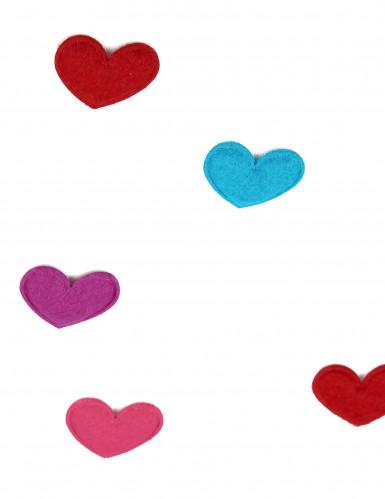 20 Confettis de table coeur Saint Valentin