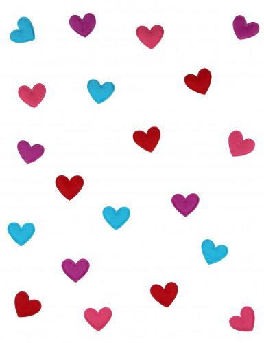 20 Confettis de table coeur Saint Valentin-1