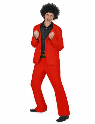 Déguisement disco rouge adulte-1