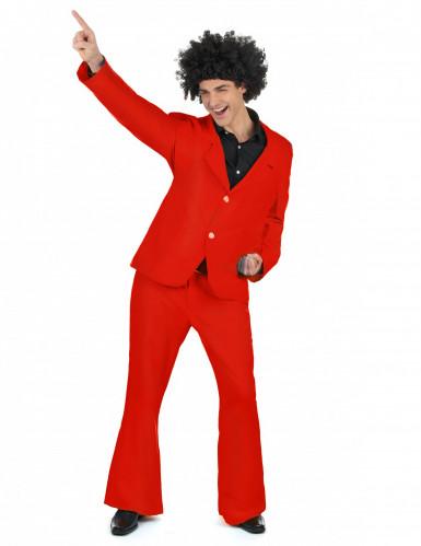 Déguisement disco rouge adulte