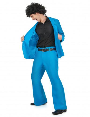Déguisement disco bleu adulte-1