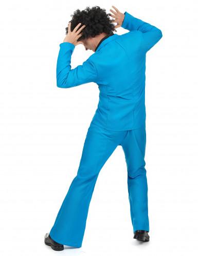 Déguisement disco bleu adulte-2