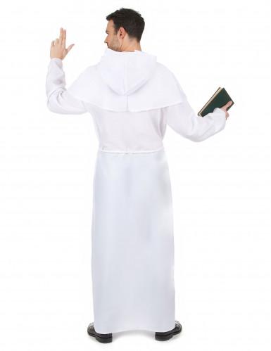 Déguisement moine blanc adulte-2