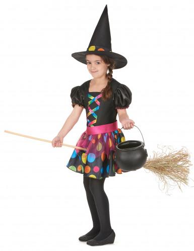 Déguisement sorcière colorée fille-1