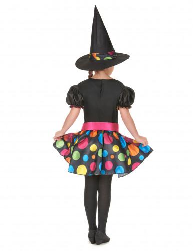 Déguisement sorcière colorée fille-2