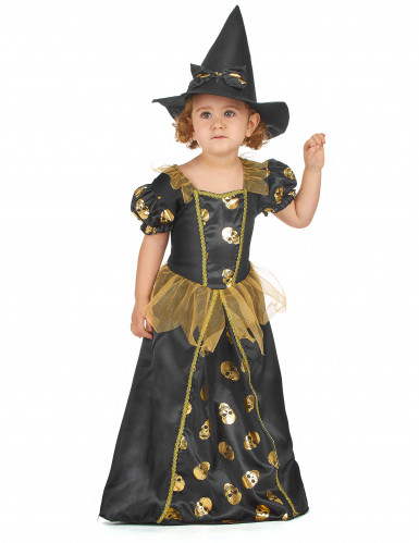 Déguisement sorcière dorée fille