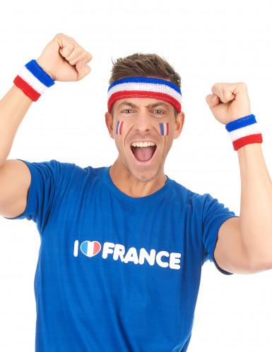 Bandeau et manchettes supporter France adulte-1