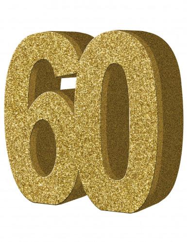 Décoration de table 60 ans Or 20 x 20 cm