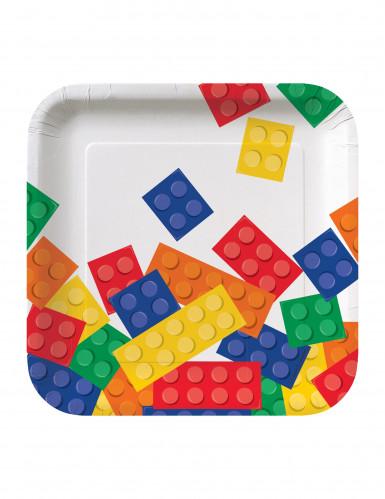 8 Petites assiettes en carton Jeu de construction 18 cm