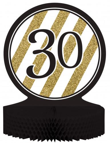 Centre de table 30 ans Noir et Or