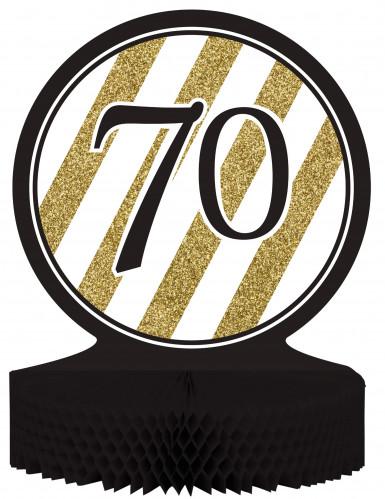 Centre de table 70 ans Noir et Or