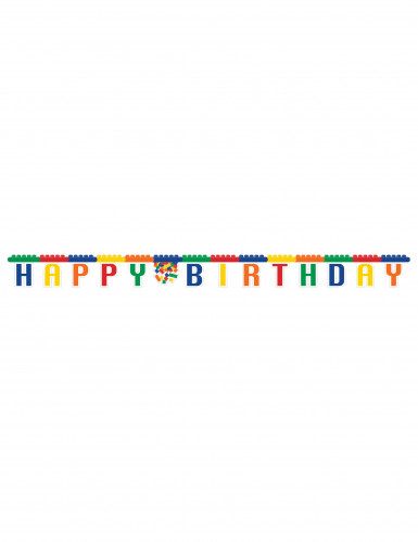 Guirlande Happy Birthday Jeu de construction 2.5 m