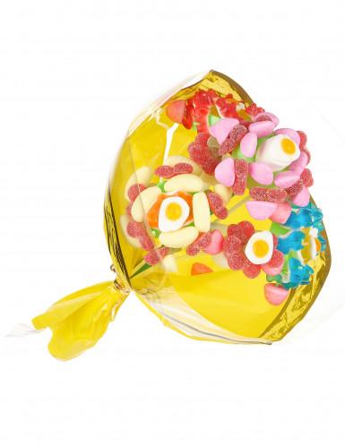 Support à bonbon bouquet de 4 fleurs